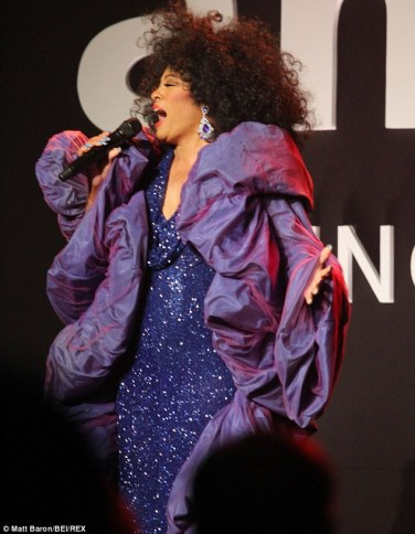 Diana Ross at the amfAR Gala
