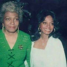 Diana Ross and her mother during the 70´s