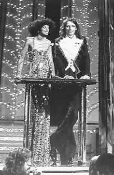 Diana Ross with Alice Cooper at the Secon Annual Rock Awards
