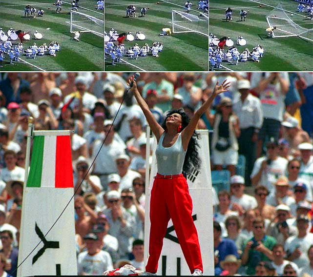 Diana Ross performs at the 1994 World Cup