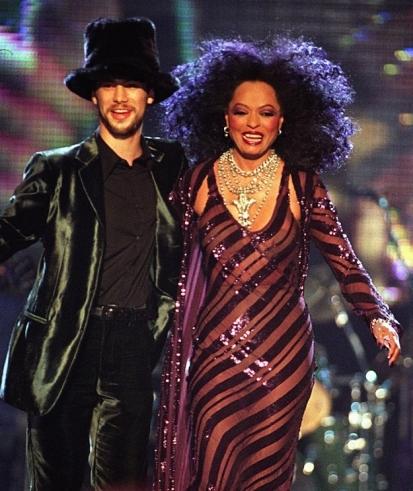 Diana Ross and Jamiroquai at the Brit Awards