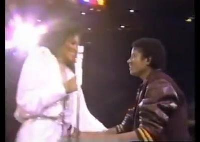 Diana Ross and Michael Jackson at diana, TV special.