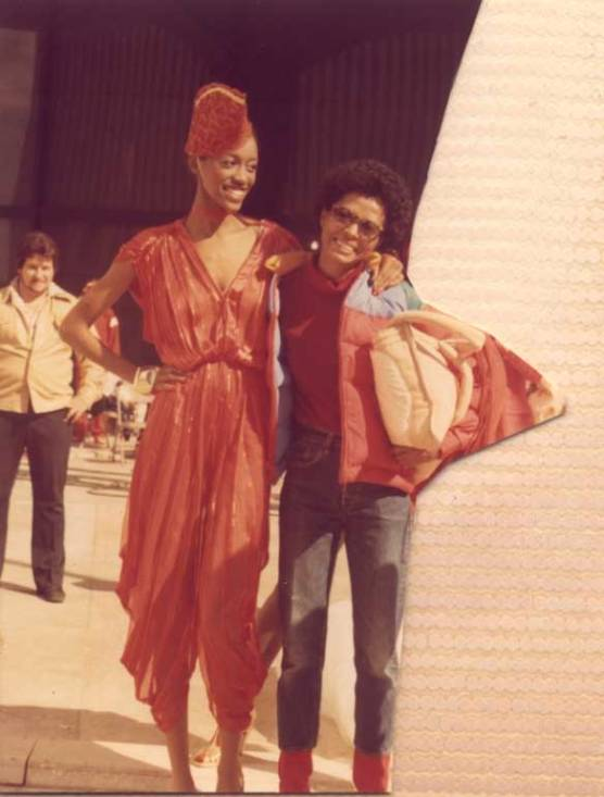 Amina and Diana Ross on the set of The Wiz